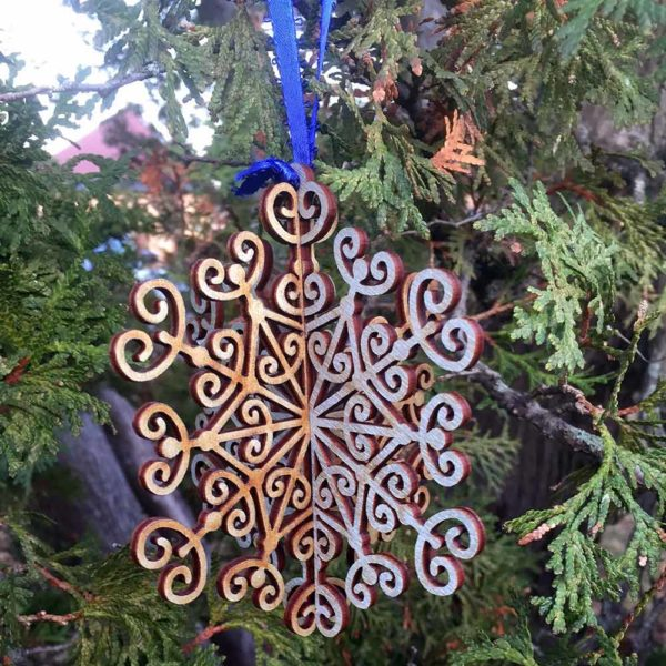 Leaves 3D Snowflake Ornament