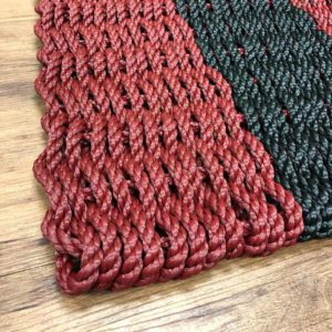 Maroon & Black Lobster Rope Doormat