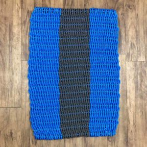 Royal Blue & Charcoal Lobster Rope Doormat