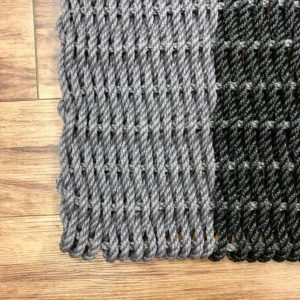 Charcoal & Black Lobster Rope Doormat