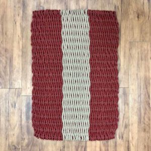 Maroon & Tan Lobster Rope Doormat