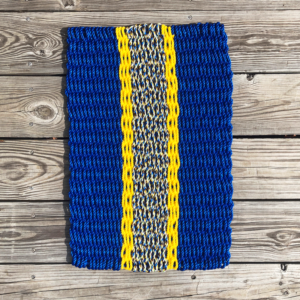 Blue & Cerulean Lobster Rope Doormat