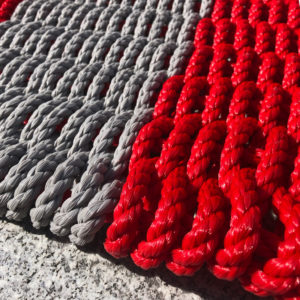 Red & Light Grey Lobster Rope Doormat