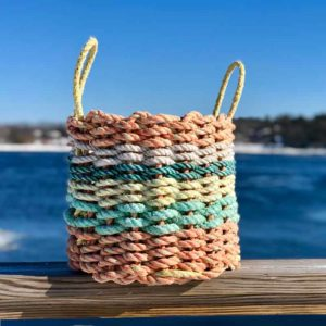 Orange Citrus Lobster Rope Basket