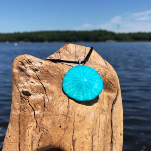 Cyan Sand Dollar Necklace