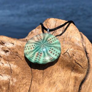 Jade Sand Dollar Necklace