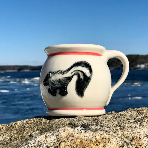 Skunk Mug with Orange Stripe