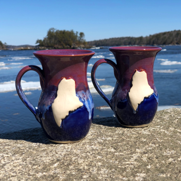 Purple & Blue Maine Mug by LKB Pottery