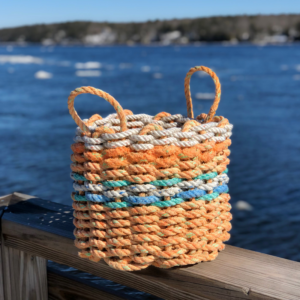 Orange Lobster Rope Basket