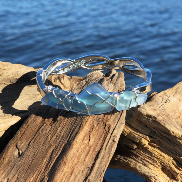 Light Blue Sea Glass Bracelet