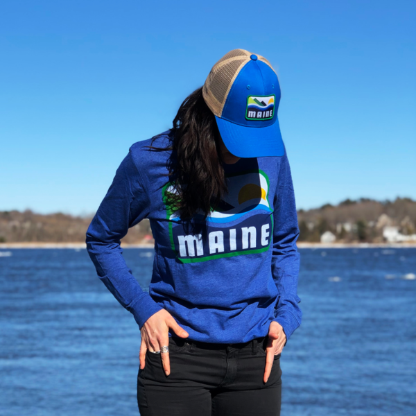 Blue MAINE Long Sleeved Shirt