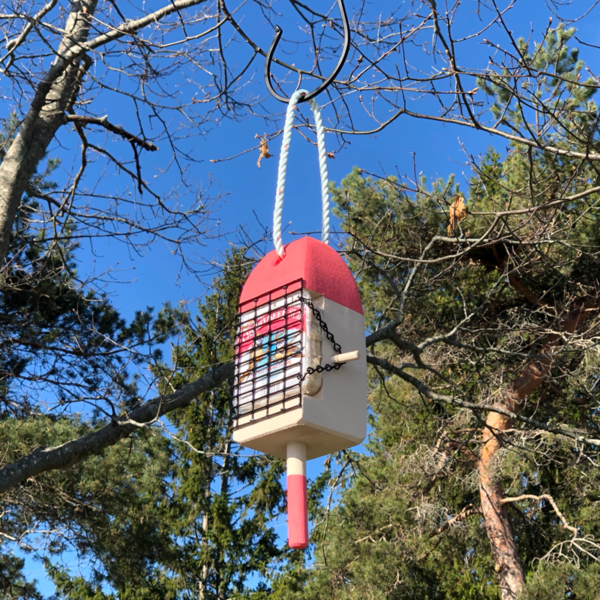 Lobster Buoy Suet Feeder - Coral