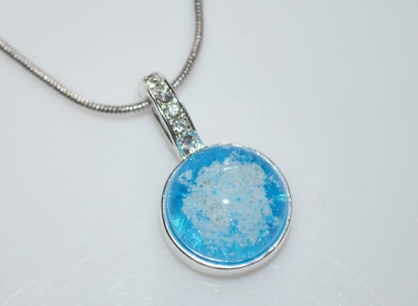 Cremation Jewelry - Small Fancy Pendant