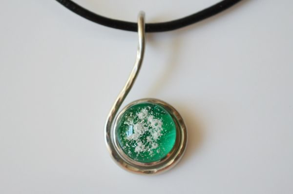 Cremation Jewelry - Small Swirl Pendant