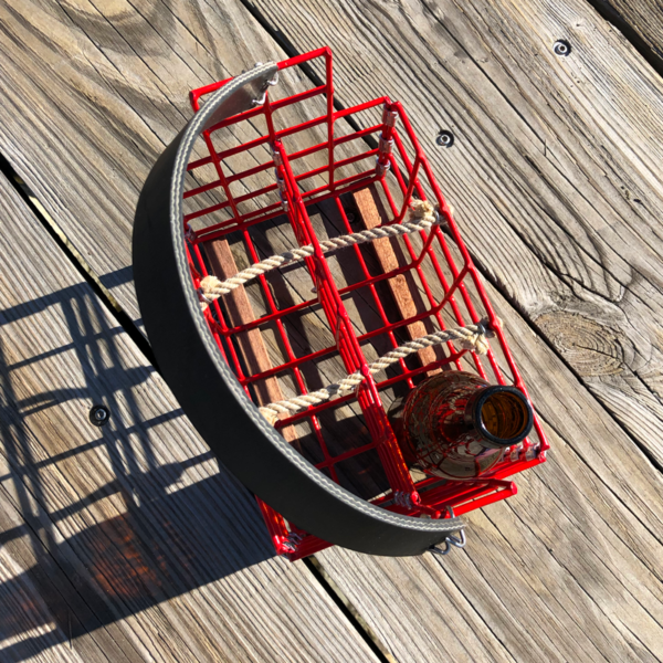Red Lobster Trap Beer Caddy