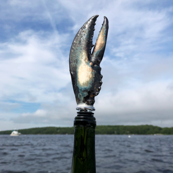 Deep Blue Sea Lobster Claw Bottle Stopper