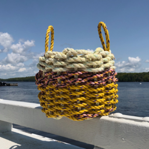 Sunrise Yellow Lobster Rope Basket