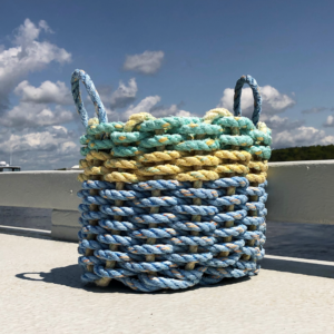 Green Yellow & Blue Lobster Rope Basket
