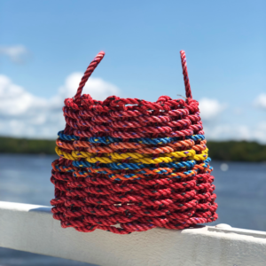 Red Yellow & Blue Lobster Rope Basket