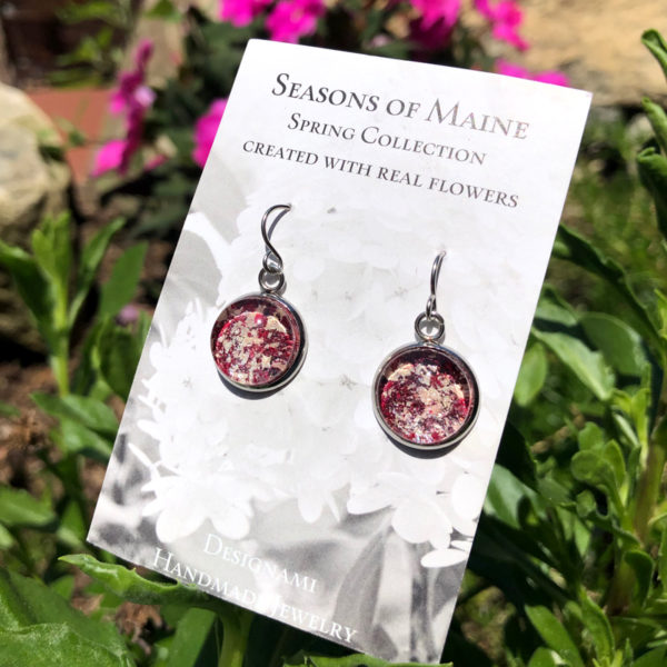 Peony & Geranium Flower Petal Earrings