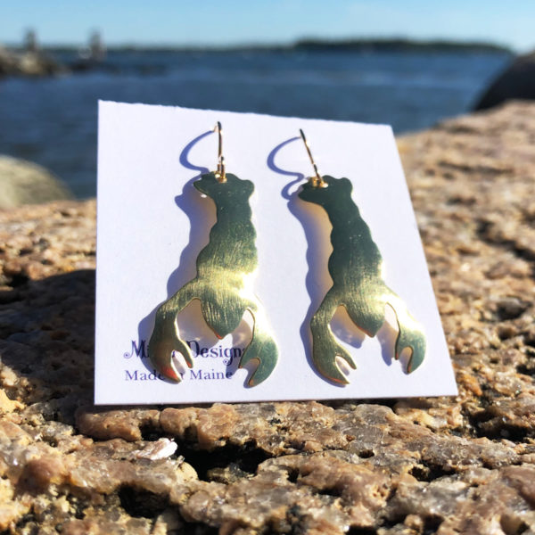Gold Lobster Earrings
