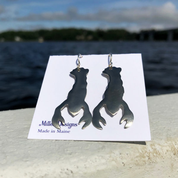 Silver Lobster Earrings