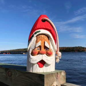 Medium Hand Carved Santa Buoy