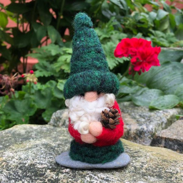 Green & Red Home Gnome