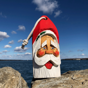 Large Hand Carved Santa Buoy