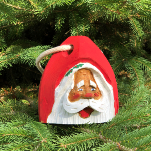 Mini Hand Carved Santa Buoy Red