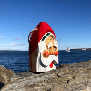 Small Hand Carved Santa Buoy