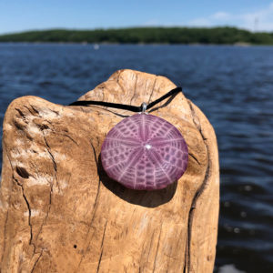 Amethyst Sand Dollar Necklace